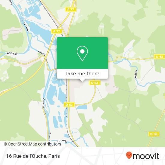 Mappa 16 Rue de l'Ouche