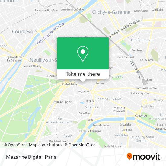 Mazarine Digital map