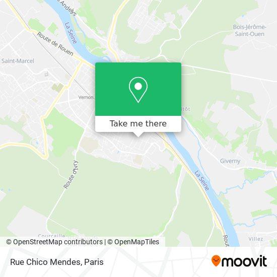 Mapa Rue Chico Mendes