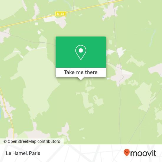 Mapa Le Hamel