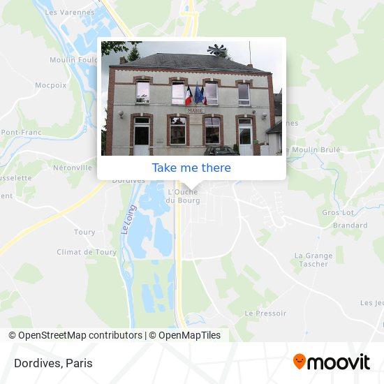 Mapa Dordives