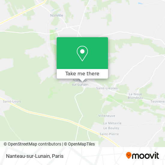 Nanteau-sur-Lunain map