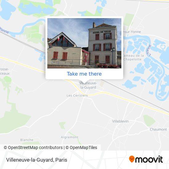 Mapa Villeneuve-la-Guyard