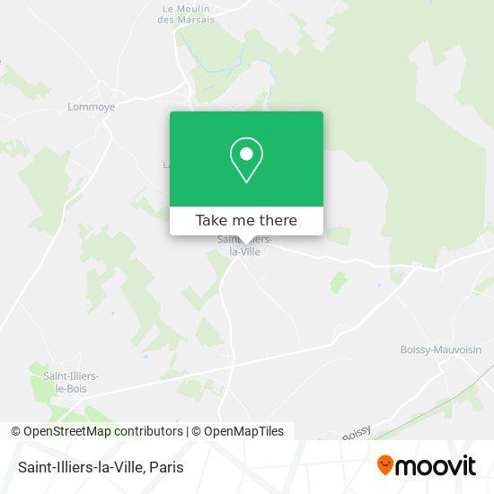 Mapa Saint-Illiers-la-Ville