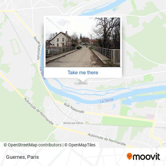 Guernes mapa