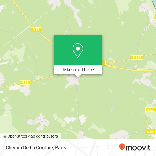 Mapa Chemin De La Couture