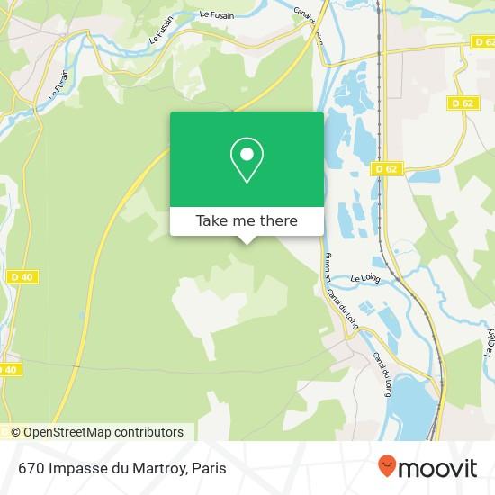 670 Impasse du Martroy mapa