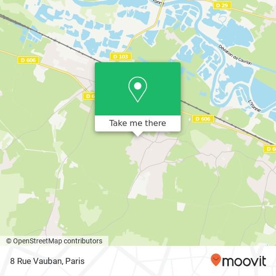 Mapa 8 Rue Vauban