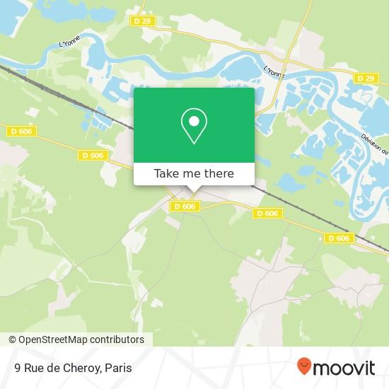 Mapa 9 Rue de Cheroy
