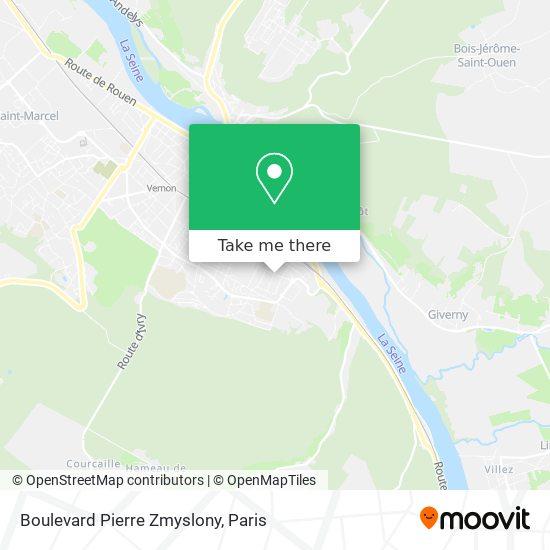 Boulevard Pierre Zmyslony map
