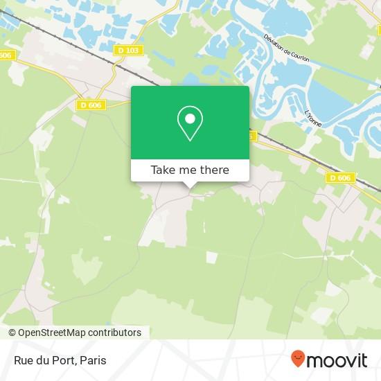 Mapa Rue du Port