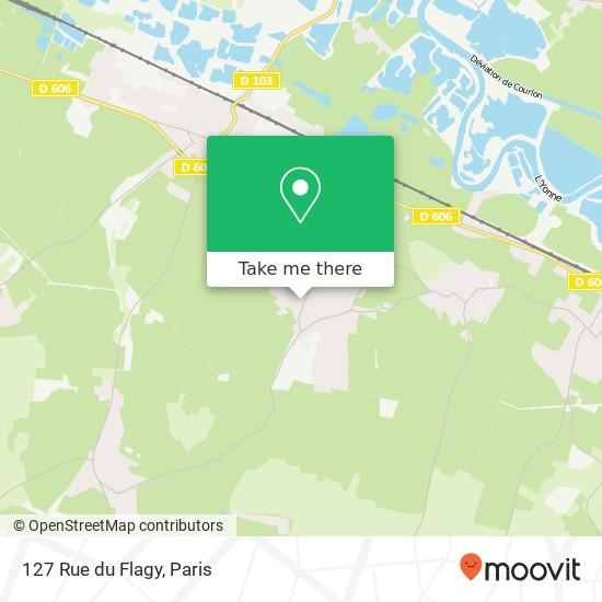 Mapa 127 Rue du Flagy