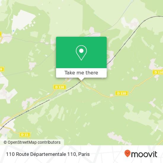 Mappa 110 Route Départementale 110