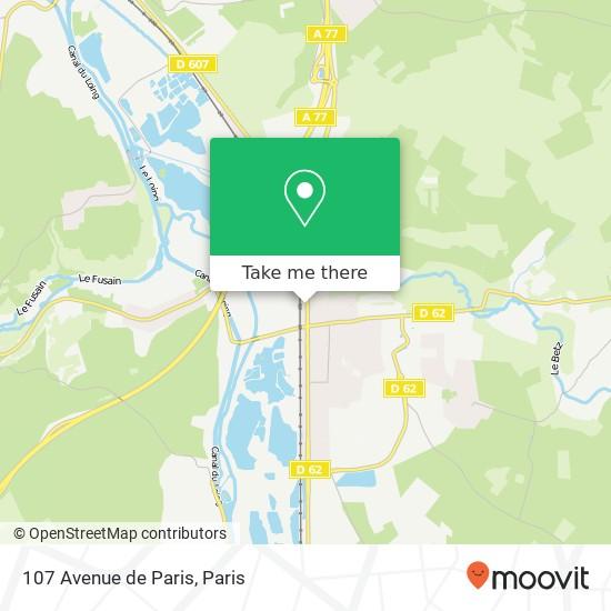 107 Avenue de Paris map