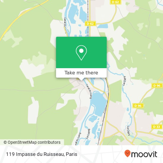 119 Impasse du Ruisseau mapa