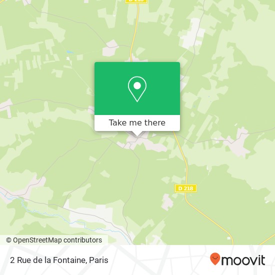 Mapa 2 Rue de la Fontaine