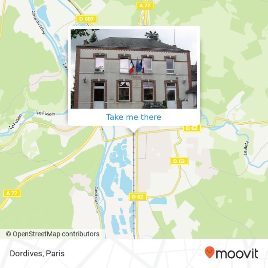 Dordives map