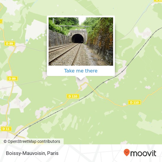 Mappa Boissy-Mauvoisin
