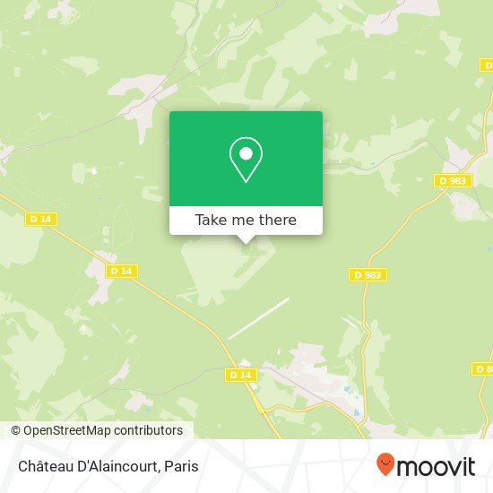 Mappa Château D'Alaincourt