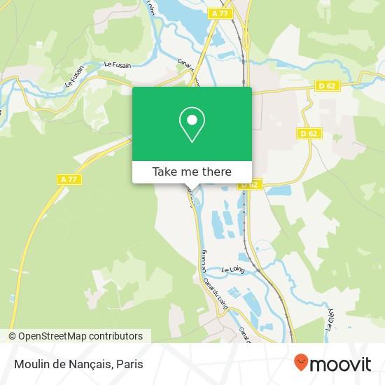 Moulin de Nançais mapa