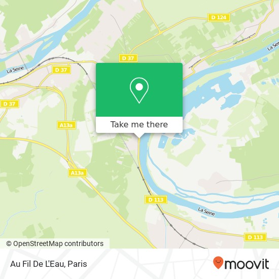 Mapa Au Fil De L'Eau