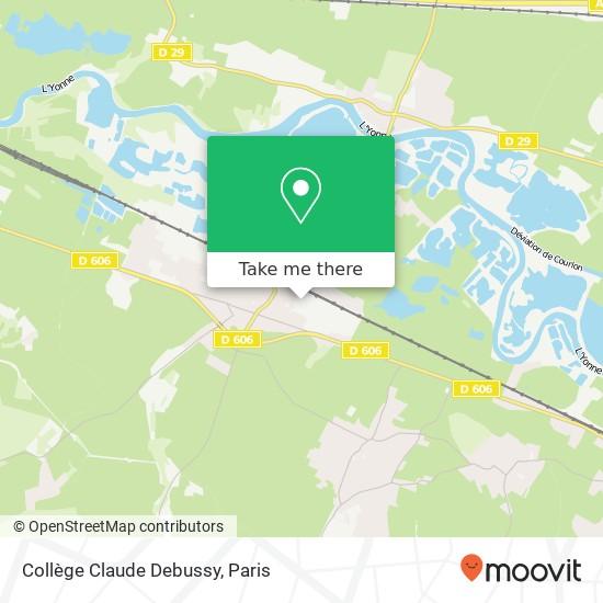 Mapa Collège Claude Debussy