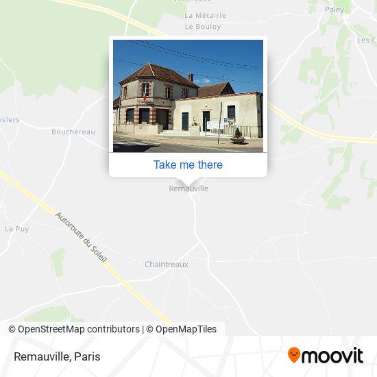 Remauville mapa