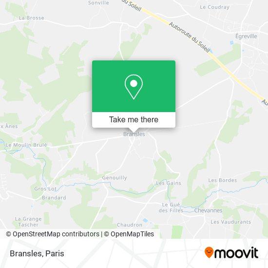 Bransles mapa
