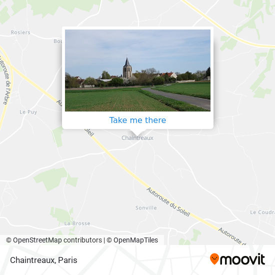 Chaintreaux mapa