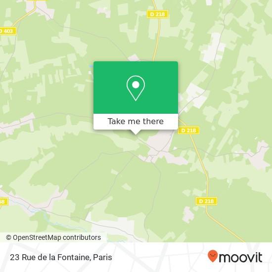 Mapa 23 Rue de la Fontaine