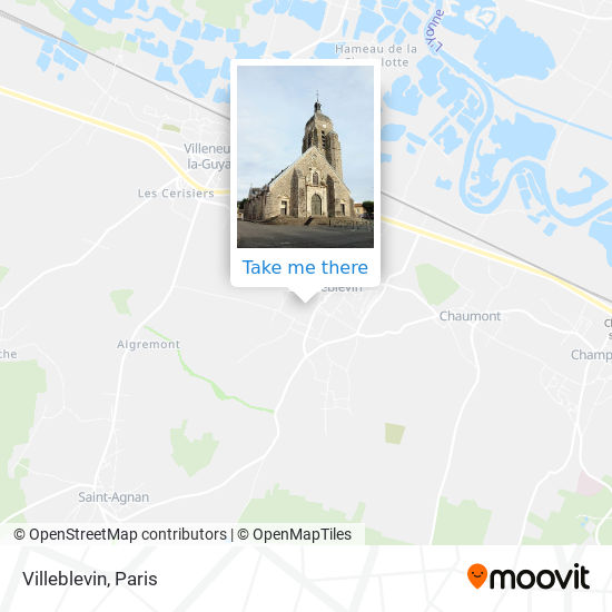 Mapa Villeblevin