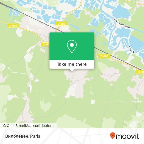 Mapa Вилблевен