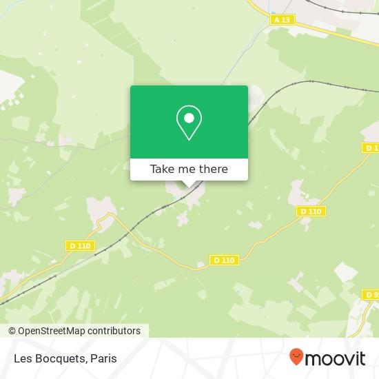 Les Bocquets mapa