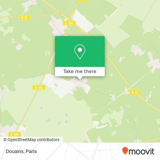Mapa Douains