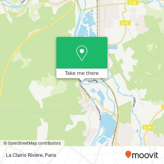 La Clairis Rivière mapa