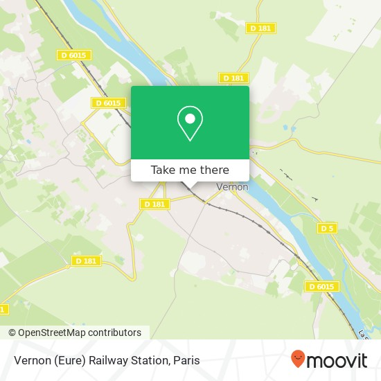 Vernon (Eure) Railway Station map