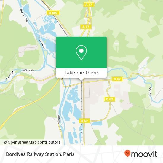 Dordives Railway Station map