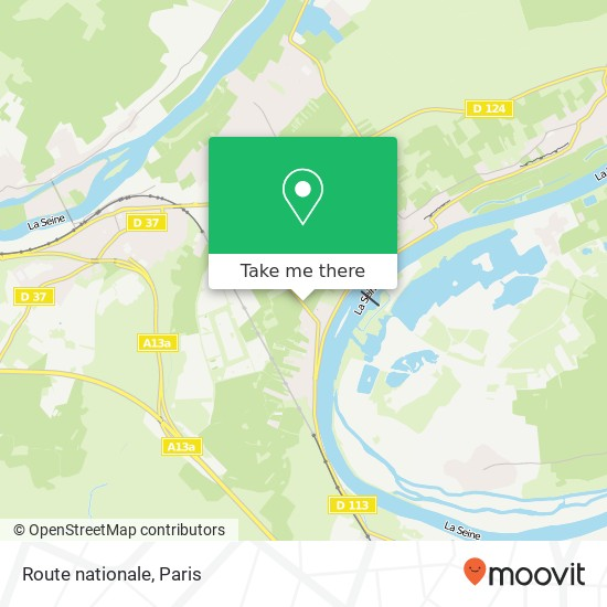 Mappa Route nationale