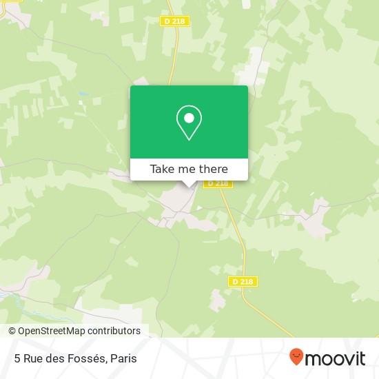 Mapa 5 Rue des Fossés