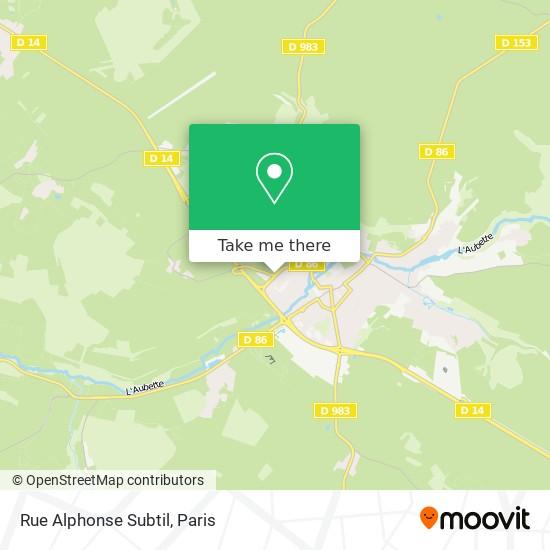 Mappa Rue Alphonse Subtil