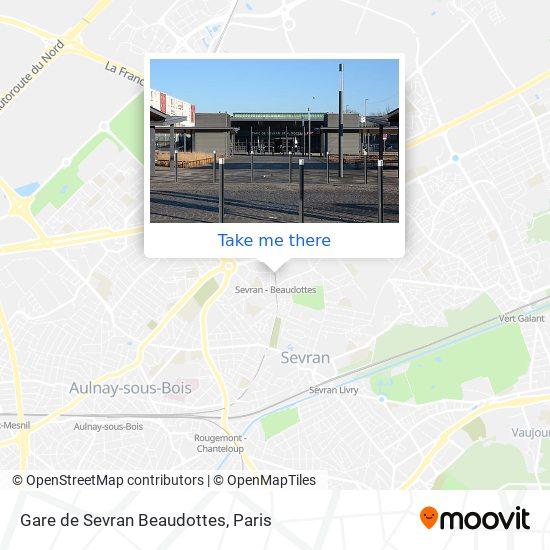 Gare de Sevran Beaudottes mapa