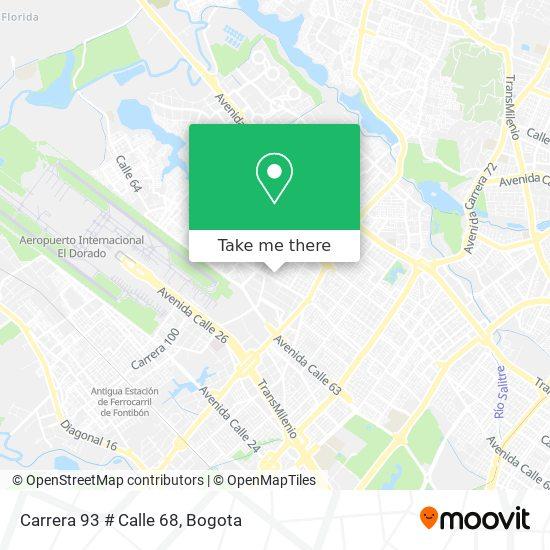 Carrera 93 # Calle 68 map