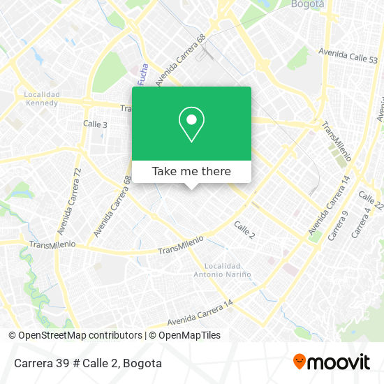 Carrera 39 # Calle 2 map