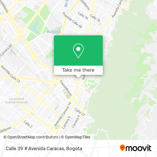 Calle 39 # Avenida Caracas map