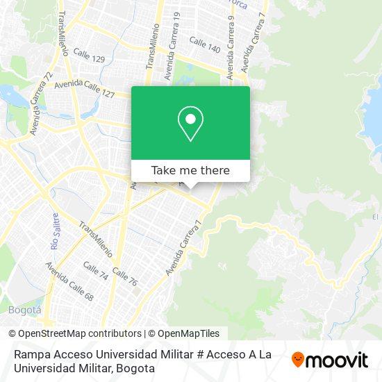 Rampa Acceso Universidad Militar # Acceso A La Universidad Militar map