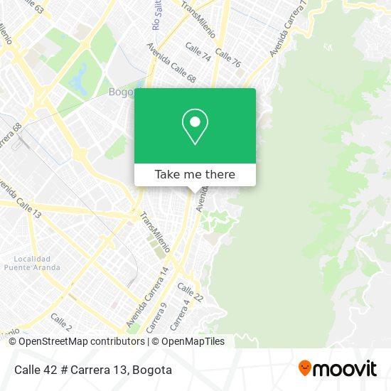 Calle 42 # Carrera 13 map
