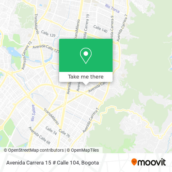 Avenida Carrera 15 # Calle 104 map