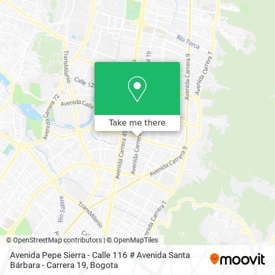 Avenida Pepe Sierra - Calle 116 # Avenida Santa Bárbara - Carrera 19 map