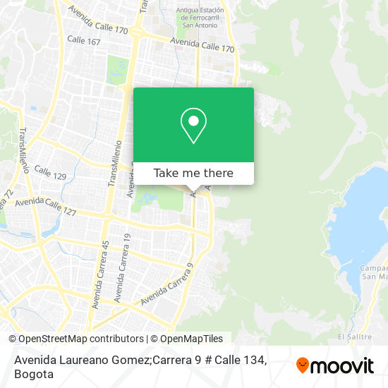 Avenida Laureano Gomez;Carrera 9 # Calle 134 map