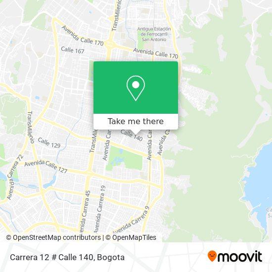 Carrera 12 # Calle 140 map